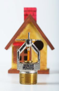 Fire Sprinklers Save Lives Stock Photography