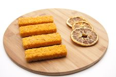Free Fish Stick With Lemon Stock Image - 18075321