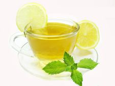 Free Fruit Tea With Lemon And Mint Royalty Free Stock Photo - 18075355