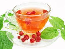 Free Herbal Tea With Raspberry  Extract Royalty Free Stock Photography - 18075407