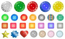 Free Buttons Stock Photography - 18075452