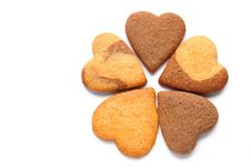 Cookies In Heart Shaped Stock Images