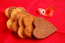 Free Cookies In Heart Shape Stock Images - 18075564