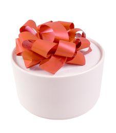 Free Round White Gift Box Royalty Free Stock Images - 18075989