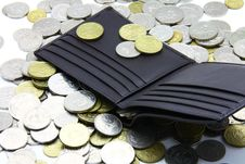 Wallet And Coins Stock Image