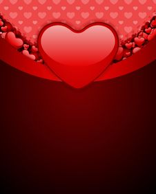 Free Red Glossy Heart Royalty Free Stock Photography - 18076137