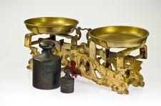 An Old Two Pan Balance Royalty Free Stock Image