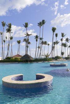 Free Swimming Pool In Caribbean Resort Stock Image - 18076631