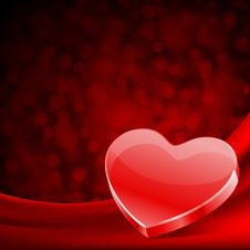 Free Red Glossy Heart Royalty Free Stock Photos - 18076648