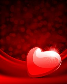 Free Red Glossy Heart Stock Photos - 18076653