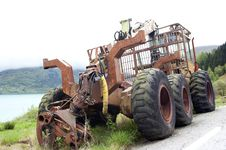 Free Abandoned Tractor Royalty Free Stock Image - 18076946