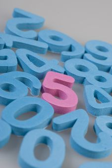 Free Numbers Of Foam Royalty Free Stock Image - 18077606