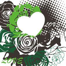 Free Floral  Postcard Royalty Free Stock Photo - 18077775