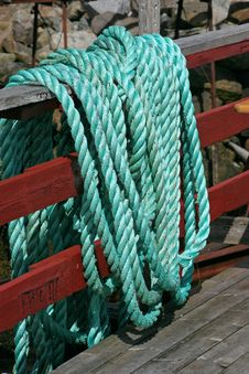 Free Green Marine Rope Royalty Free Stock Images - 18077859