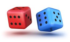 Free Dice Red And Blue Stock Image - 18077871