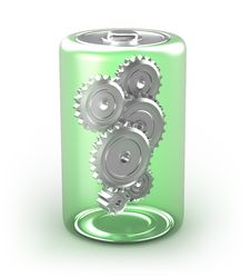Free Battery Concept With Cogs Royalty Free Stock Image - 18077976