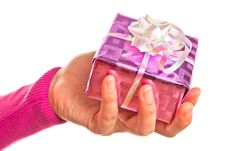 Free Hand Holding Gift Stock Photos - 18078513