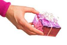 Free Hand Holding Gift Stock Image - 18078541