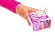 Free Hand Holding Gift Stock Photography - 18078552