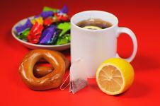 Free Lemon And Tea Royalty Free Stock Image - 18078886
