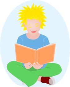 Free Girl Reading Stock Photo - 18078930