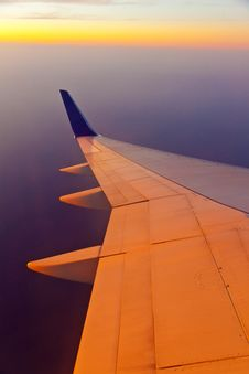 Wing Of Aircraft Royalty Free Stock Photos