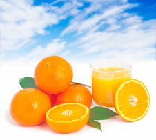 Orange Juice. Stock Images