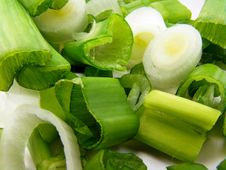 A Close Up Image Of Spring Onion Slices Royalty Free Stock Images