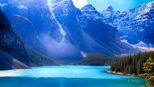 Moraine Lake, Valley Of The Ten Peaks, Banff National Park, Alberta, Canada, Beautiful Landscape Royalty Free Stock Image