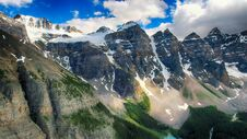 Free Moraine Lake, Valley Of The Ten Peaks, Alberta, Canada, Banff National Park, Beautiful Landscape Royalty Free Stock Photos - 180790248