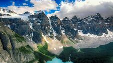 Free Moraine Lake, Valley Of The Ten Peaks, Alberta, Canada, Beautiful Landscape, Banff National Park Royalty Free Stock Images - 180790249
