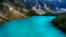 Free Moraine Lake, Valley Of The Ten Peaks, Beautiful Landscape, Alberta, Canada, Banff National Park Stock Photography - 180790252