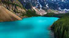 Free Moraine Lake, Banff National Park, Valley Of The Ten Peaks, Alberta, Canada, Beautiful Landscape Royalty Free Stock Image - 180790256