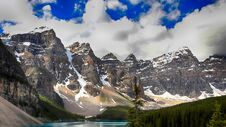 Free Moraine Lake, Banff National Park, Alberta, Canada, Valley Of The Ten Peaks, Beautiful Landscape Royalty Free Stock Images - 180790259