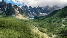 Free Moraine Lake, Banff National Park, Alberta, Canada, Beautiful Landscape, Valley Of The Ten Peaks Royalty Free Stock Photo - 180790265