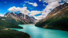 Moraine Lake, Banff National Park, Beautiful Landscape, Valley Of The Ten Peaks, Alberta, Canada Stock Photography