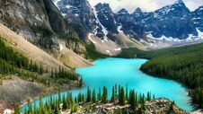 Free Moraine Lake, Valley Of The Ten Peaks, Alberta, Canada, Banff National Park, Beautiful Landscape Stock Photo - 180790330