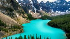 Free Moraine Lake, Valley Of The Ten Peaks, Alberta, Canada, Beautiful Landscape, Banff National Park Stock Photography - 180790332