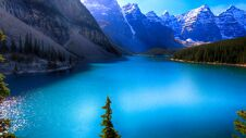 Moraine Lake, Valley Of The Ten Peaks, Beautiful Landscape, Banff National Park, Alberta, Canada Royalty Free Stock Photography