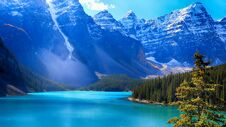 Moraine Lake, Banff National Park, Valley Of The Ten Peaks, Beautiful Landscape, Alberta, Canada Royalty Free Stock Images