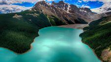 Moraine Lake, Banff National Park, Alberta, Canada, Beautiful Landscape, Valley Of The Ten Peaks Royalty Free Stock Image