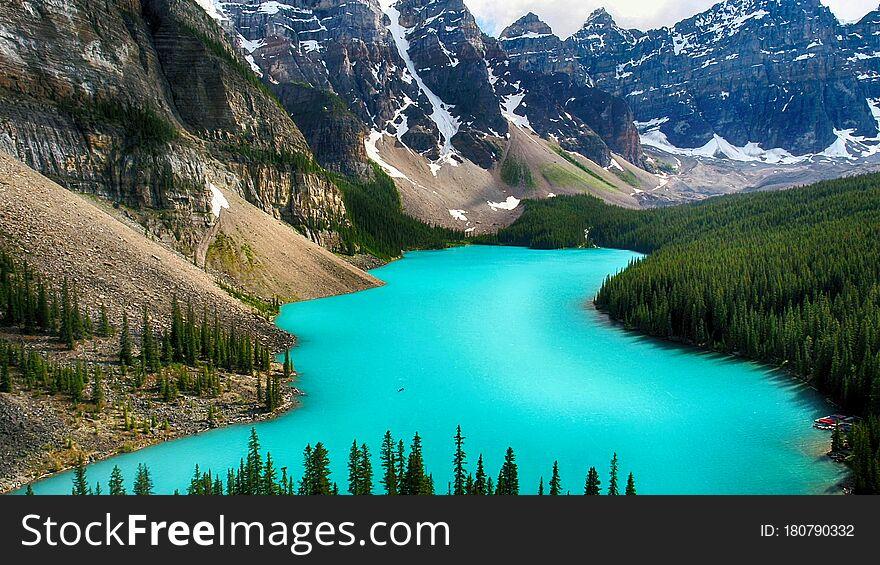 Moraine Lake, Valley of the Ten Peaks, Alberta, Canada, Beautiful Landscape, Banff National Park