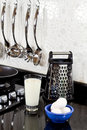Free Background Of Modern Kitchen And Eggs, Milk Stock Photo - 18081540