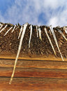 Free Icicles On Straw Roof Stock Images - 18084814