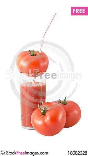 Free Tomato Juice And Tomato Royalty Free Stock Photos - 18082328