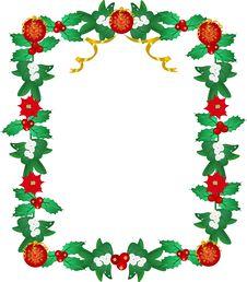 Free Lavishly Garnished Seasonal Frame Royalty Free Stock Photo - 18080405