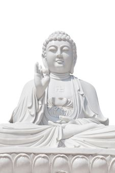 Free White Buddhist On Isolated Background Stock Images - 18080474