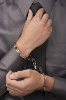 Free Man In Handcuffs Royalty Free Stock Photos - 18080518
