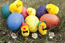 Free Easter Eggs Royalty Free Stock Photo - 18080895