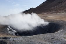 Steaming And Boiling Mud Sulphur In Náma Stock Photography